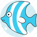 animals, aquatic creatures, cartoon, cartoon fish, fish, river, sea icon