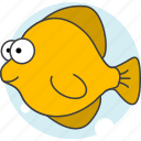 animals, aquatic creatures, cartoon, cartoon fish, fish, sea icon