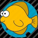 animals, aquatic creatures, cartoon, cartoon fish, fish, sea icon