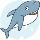 animals, aquatic creatures, cartoon, cartoon shark, river, sea, shark icon