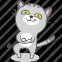 cartoon, cat, character, emoji, emoticon, kitty, proud icon