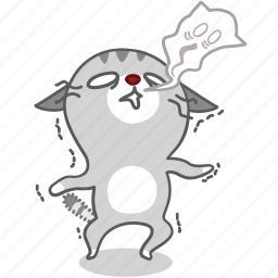 cartoon, cat, character, energy, kitten, kitty, no icon