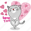 cartoon, cat, character, happy, kitten, kitty, love icon