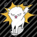 angry, cartoon, cat, character, emoji, emoticon, kitty icon
