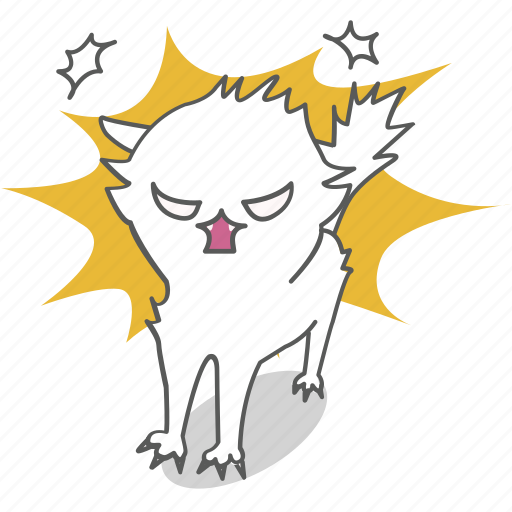 angry, cartoon, cat, character, emoji, emoticon, kitty icon