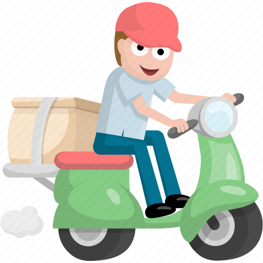 delivery, logistics, moto, shipping, take away icon