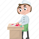 cartoon chef, cartoon cook, cartoon people, chef, cook icon