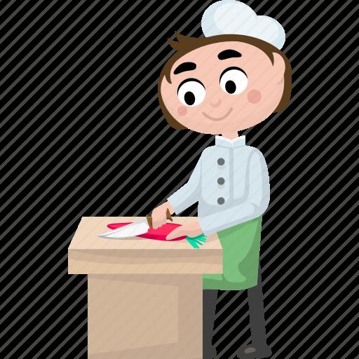 cartoon chef, cartoon cook, cartoon people, chef, cook icon