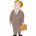 business, cartoon character, cartoon man, cartoon people icon