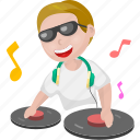 cartoon character, cartoon dj, cartoon man, cartoon people, dj icon