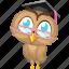 cartoon animal, cartoon owl, cartoon teacher, owl, teacher icon