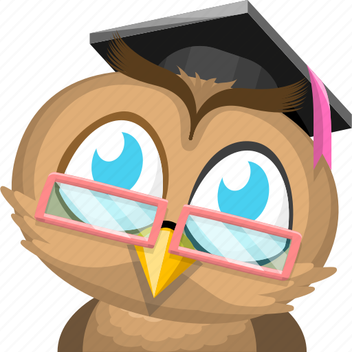 cartoon animal, cartoon owl, cartoon teacher, owl, teacher icon