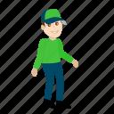 cartoon, character, delivery boy, emoji, emoticon, emotion icon