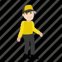 cartoon, delivery, emoji, emoticon, office, shipping, transport icon