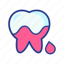 blood, character, dental, dentist, medical, molar, tooth icon