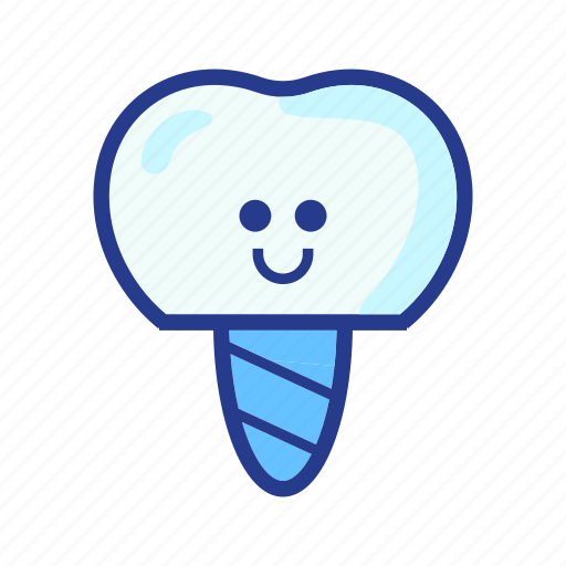 character, dental, dentist, implant crown, medical, molar, tooth icon