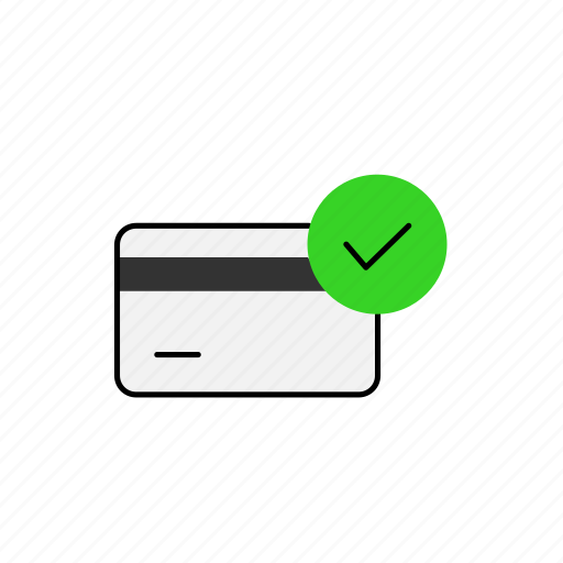 bank, business, card, comfirm icon