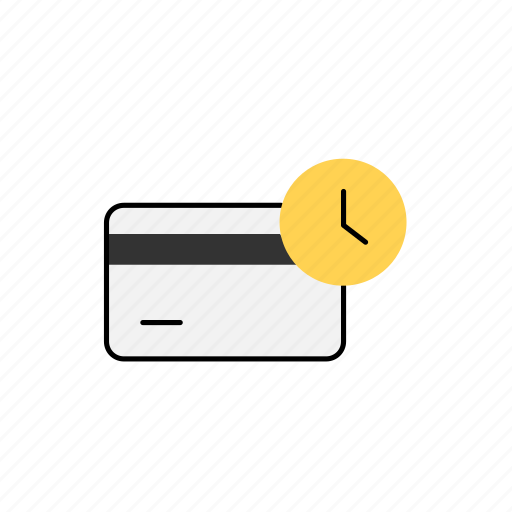bank, business, card, waiting icon