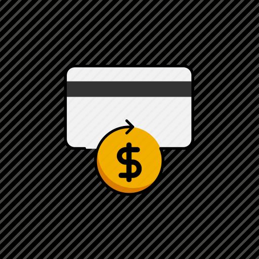 business, card, cashback, dollar, usd icon