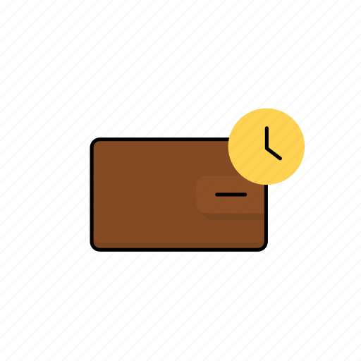 business, cash, money, waiting, wallet icon