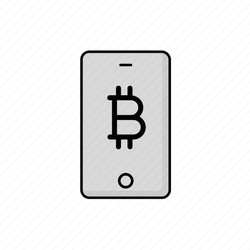 bitcoin, business, cash, crypto, phone icon