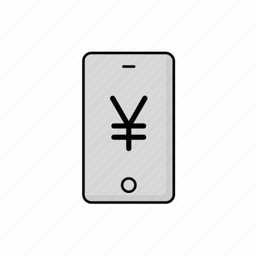 business, cash, jpy, phone icon