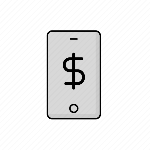 business, cash, phone, usd icon