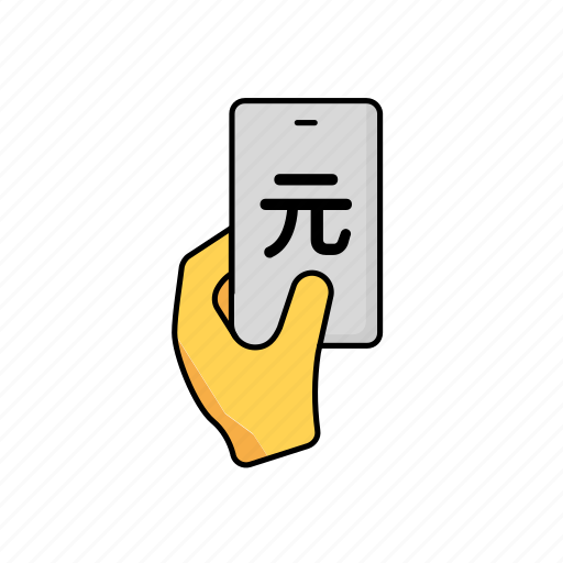 business, cny, contactless, payment, phone icon
