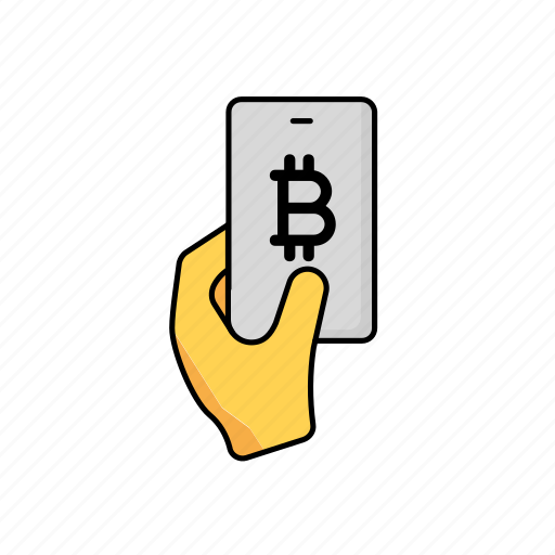 bitcoin, business, contactless, crypto, payment, phone icon