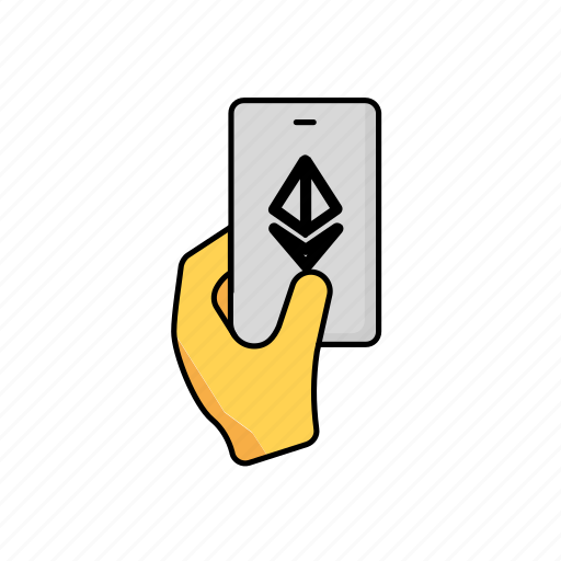 business, contactless, crypto, ethereum, payment, phone icon