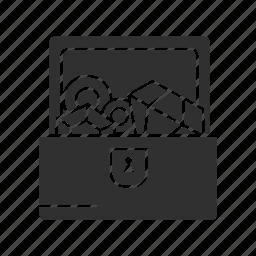 chest, diamonds, treasure, treasure chest icon