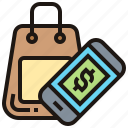 mobile, online, payment, shopping, wallet icon