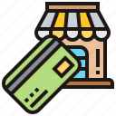 online, payment, shopping, smartphone, store icon