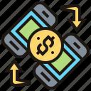 banking, mobile, online, transaction, transfer icon