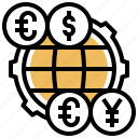 currency, exchange, foreign, money, rate icon