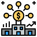bank, business, company, financial, money icon