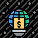 cashless, digital, idea, online, technology icon