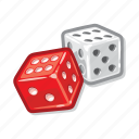 casino, dice, gamble, gambling icon