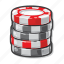 casino, gambling, gaming chips, poker icon