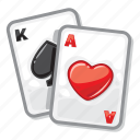 ace of hearts, casino, king of spades, playing cards, poker