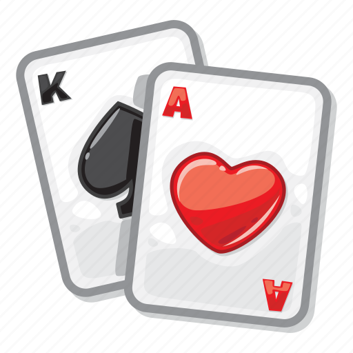 ace of hearts, casino, king of spades, playing cards, poker icon