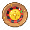 casino game, gamble, roulette icon