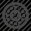 casino, game, roulette icon