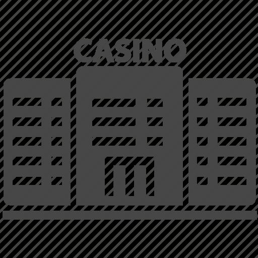 buildings, casino, city icon