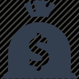 bag, bank, dollar, gambling, money, wealth icon
