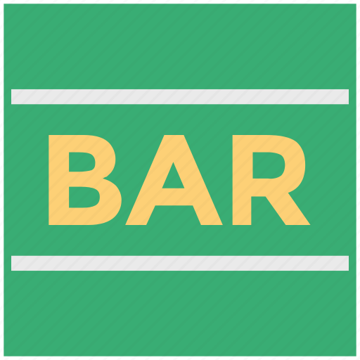 bar, bar sign, food and drink, law, media and entertainment icon