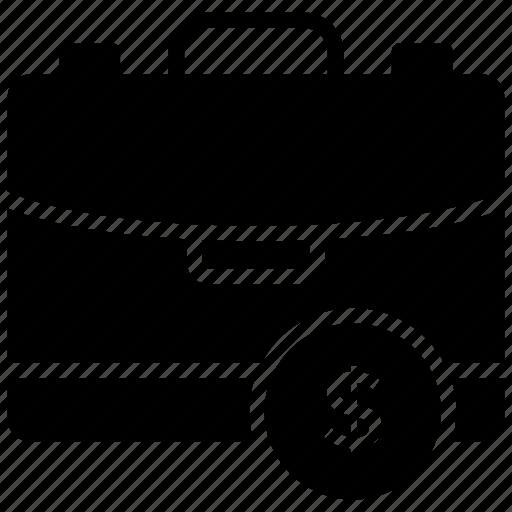 Briefcase, dollar bag, money bag, savings, wealth icon - Download on Iconfinder