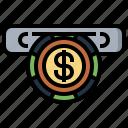 cash, casino, coins, for, machine, money, slot