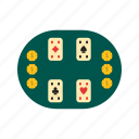 cards, casino, chips, couple, game, poker, table icon