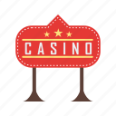 casino, gambling, game, light, red, royale, sign